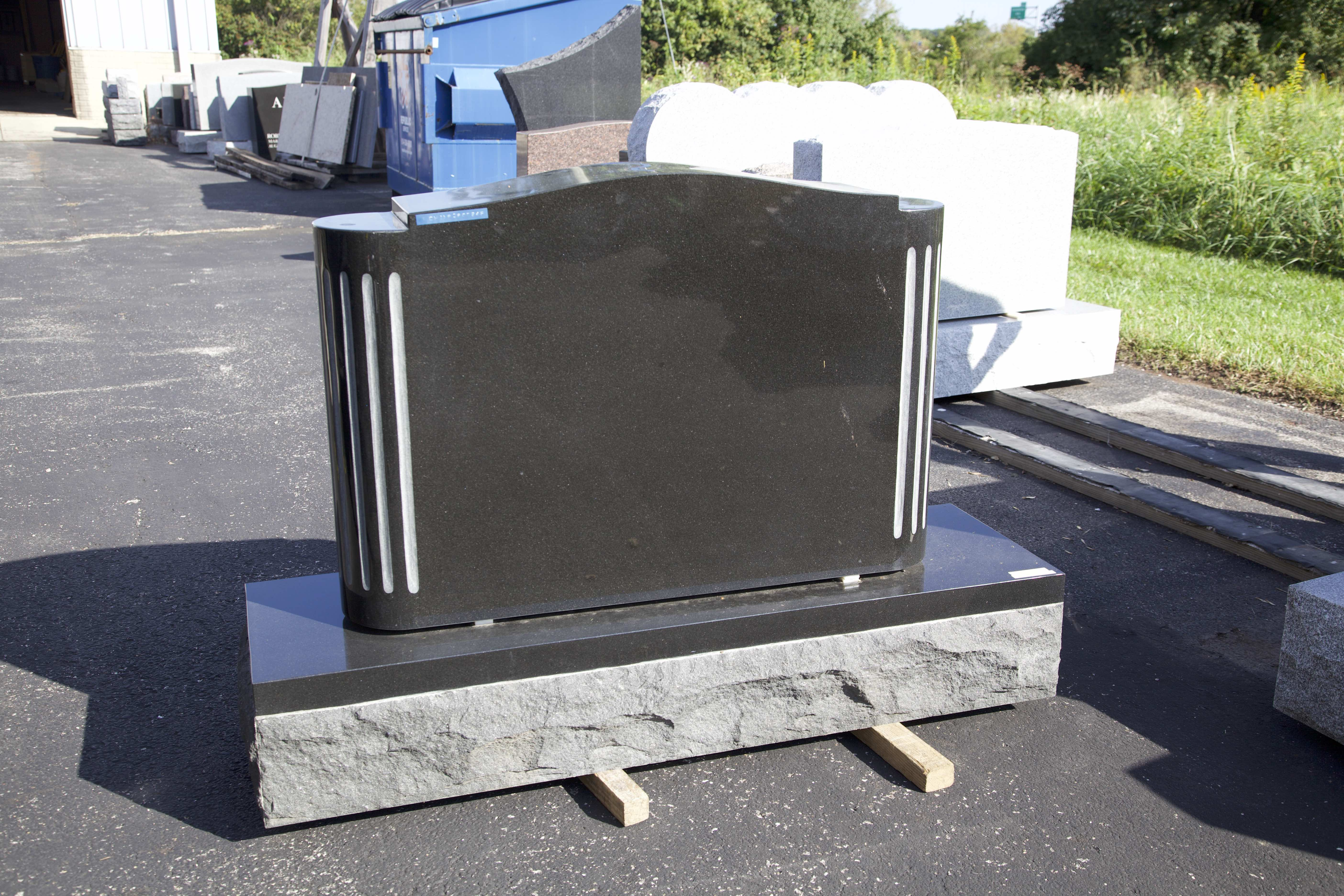 36x8x24 Black with Fluted Columns